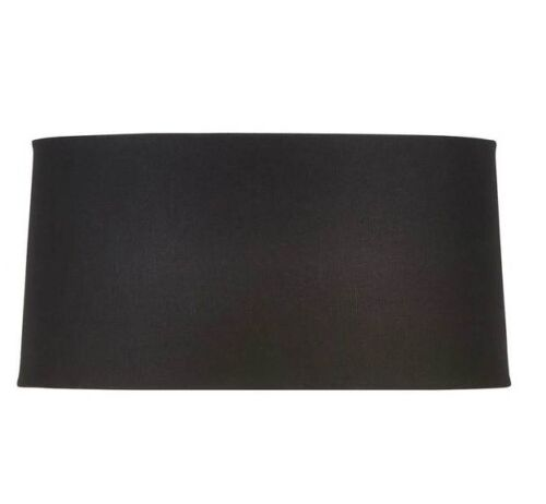 Mix n Match LAMP SHADE Linen Fabric Tapered Drum BLACK M 30x17 or L 44x25cm