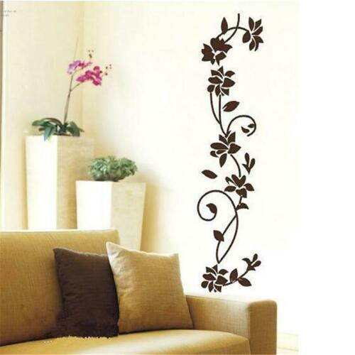 Wall Stickers Flower Floral Vine Living Room Hall Art Decals Home Decor BL3