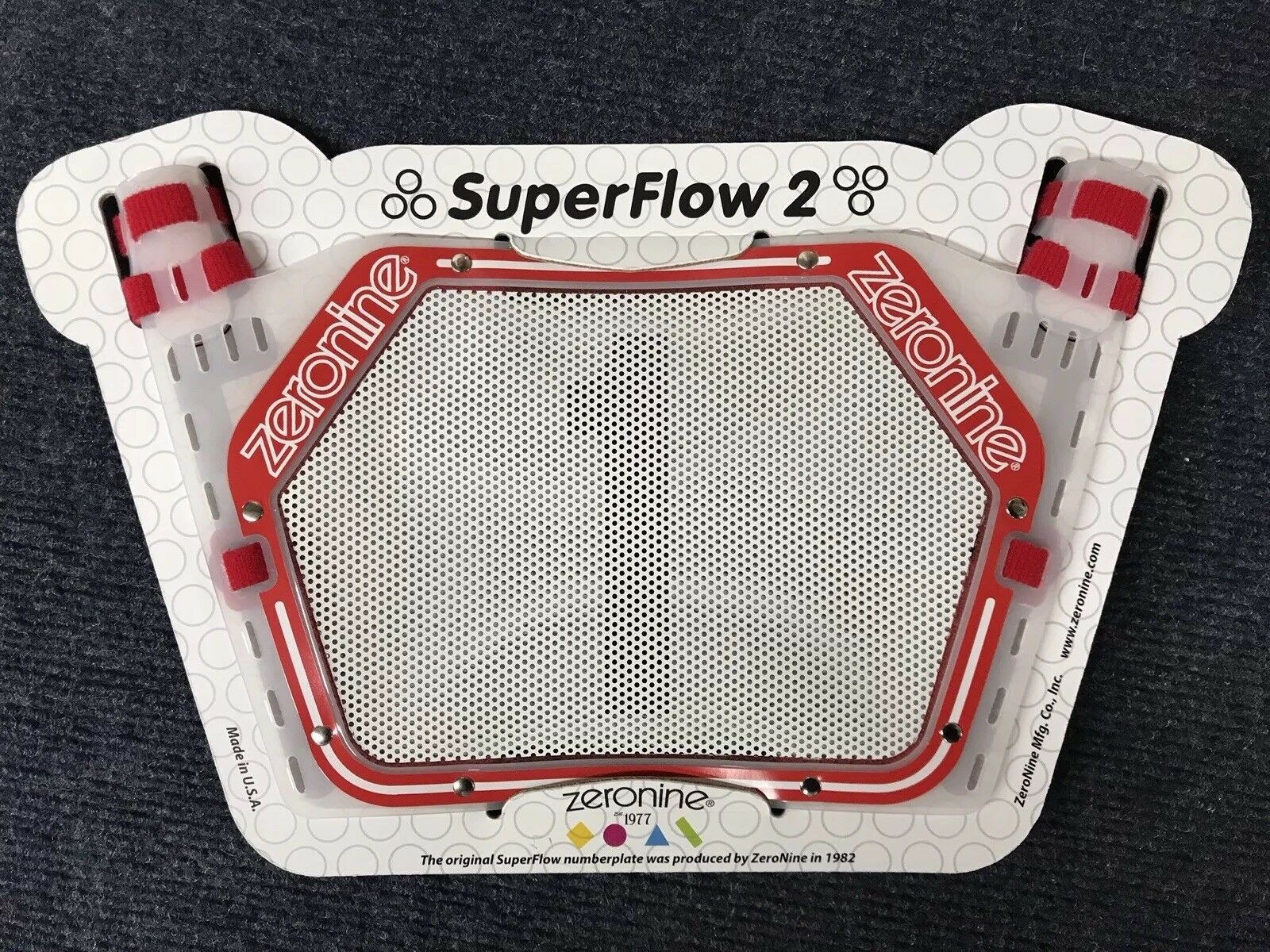 ZeroNine 2019 SuperFlow2 numberplateRed & White full set of Superflow numbers