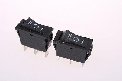 10 Pcs 3 Pin SPDT on-off-on Snap In Mini Boat Rocker Switch 250V/15A 125V/20A A