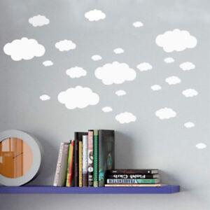 Details About Mini Clouds Wall Sticker , Vinyl Cloud Wall Art Nursery Kids Child  Room Decor