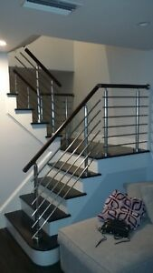 Details About Modern Stairs Balcony Hand Rail Staircase Railing Kit Aluminium Top Mount