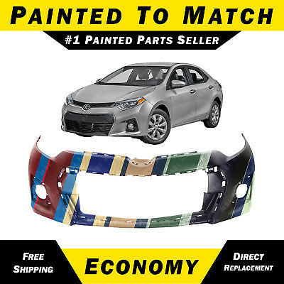 Primered Front Bumper Cover Fits 14-16 Toyota Corolla Except S Model TO1000399
