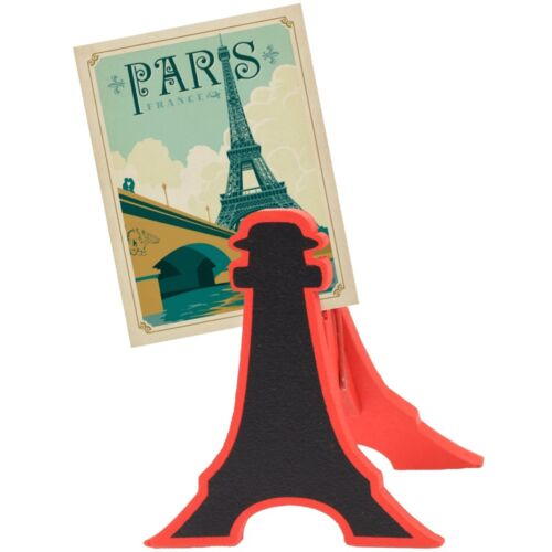 4 x EIFFEL TOWER MEMO HOLDERS Chalk Board Menu Stand Restaurant Cafe Bar Clip