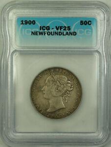 1900-Newfoundland-Queen-Victoria-Silver-50-Cents-ICG-VF-25-KM-6