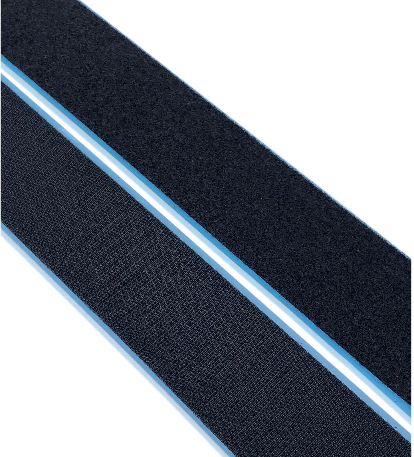 QUALITY 13mm x 25m BLACK LONG HOOK /& LOOP WRAP Tape Cable Fastener Underwater