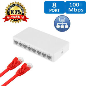8-ports-Commutateur-Gigabit-Desktop-RJ45-Switch-Ethernet-10-100-Mbps-Hub-Switcher