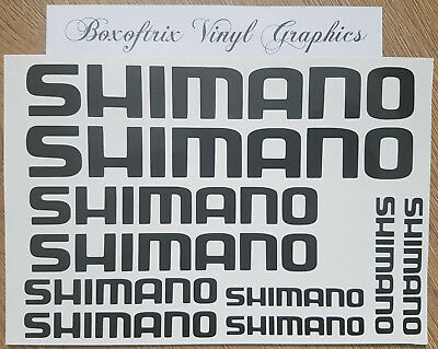 10 x Shimano Vertical Bike Vinyl Decal Stickers Frame Cycle Bicycle