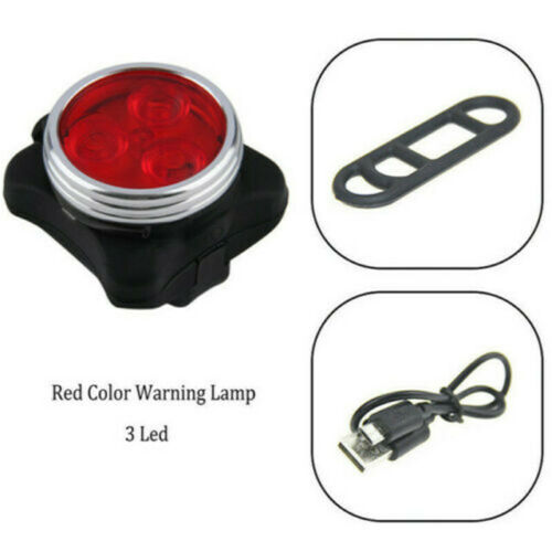 Bright Bike Light Set USB Rechargeable Bicycle Front Lights Warning Tail Light