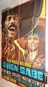 QUIEN-SABE-el-chuncho-k-kinski-magnifique-affiche-cinema-western-spaghetti-1966