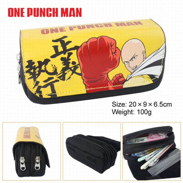Fairy Tail Canvas Pen Pencil Case Storage Bag Pouch Stationery Zipper Handbags