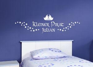 Kinderzimmer deko junge pirat  Kleiner Pirat+Name Kinderzimmer Stern Deko Junge Geburt ...
