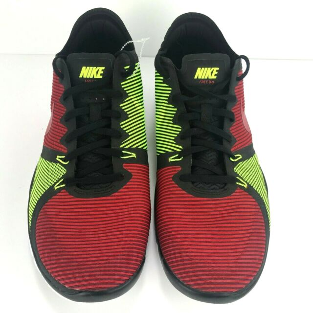 Mens Nike Free Trainer 3.0 V4 Size 13 Black Red Volt Training schuhe 749361 066