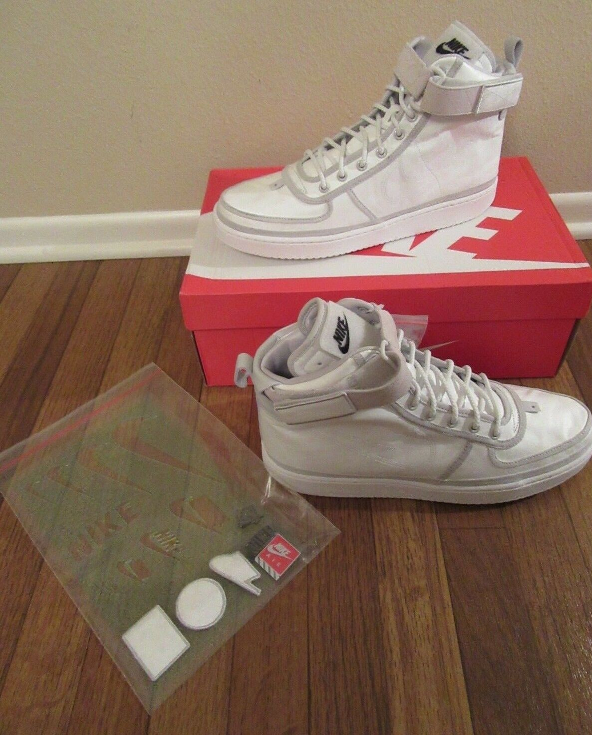 Nike Vandal High Supreme AS QS 90/10 Size 11 Vast Grey White AQ0113 001 Maker LA