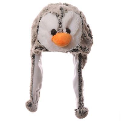 Modesto Bambini Peluche Pinguino Cappello 18cm Ad Alta Wild Woolies Girl Boy Testa Orecchio Più Caldo- Elegante Nell'Odore