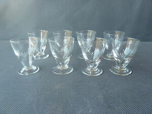 lot de 9 petits verres cisel liqueur ou digestif vintage old vintage glasses ebay. Black Bedroom Furniture Sets. Home Design Ideas