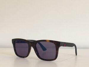 b08138d2d5 8 Gucci 0008S 003 Square Dark Havana Blue Mirrored Lenses Sunglasses ...