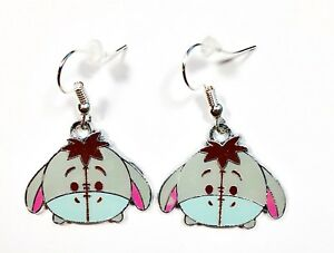 c00ace33e6579 Details about Disney WINNIE THE POOH Inspired EEYORE Head Character Dangle  Earrings Ships Fast
