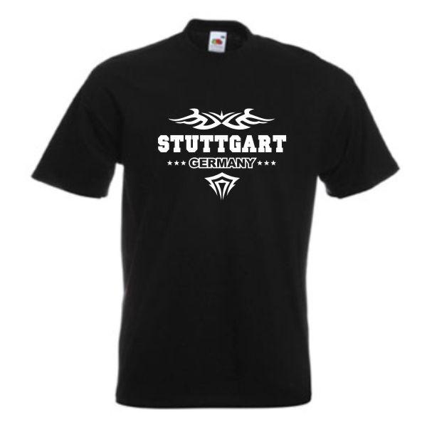 T-Shirt Stuttgart Germany Städte Fanshirt Fan T Shirt S-12XL (SFU09-13a) | Lebhaft  | Vorzüglich  | Viele Stile