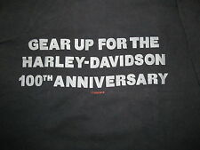 GEAR UP FOR THE HARLEY DAVIDSON 100TH ANNIVERSARY STAFF shirt Adult Sm / Med