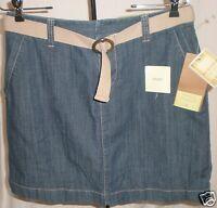 Sonoma Life Style Skort Denim Med Wash Belt Decoration Size 6 72% Cotton Jf