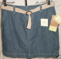 Sonoma Life Style Skort Denim Med Wash Belt Decoration Size 6 72% Cotton Jf