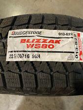 4 New 225 60 16 Bridgestone Blizzak Ws80 Snow Tires