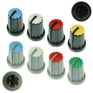 8-Colours-D-Shaft-270-Plastic-Pot-Knobs-for-6mm-Potentiometer-Rotary-Encoder