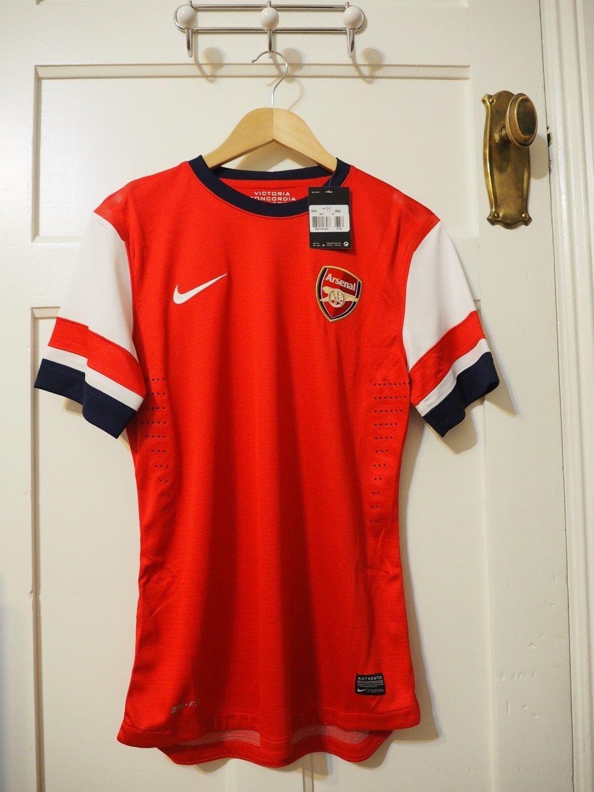 Arsenal Nike Home Camisa Medio 2012-2014 jugadores problema-Bnwt