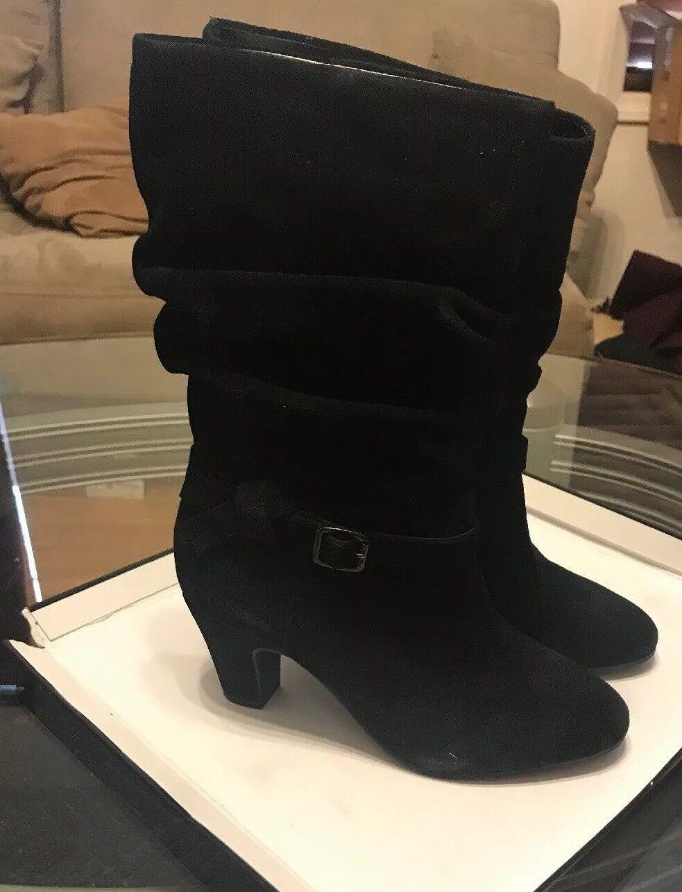Nuevo Con Etiqueta Mujeres Cuero De Gamuza Alex Marie Yarra Yarra Yarra botas talla 8m Negro  punto de venta