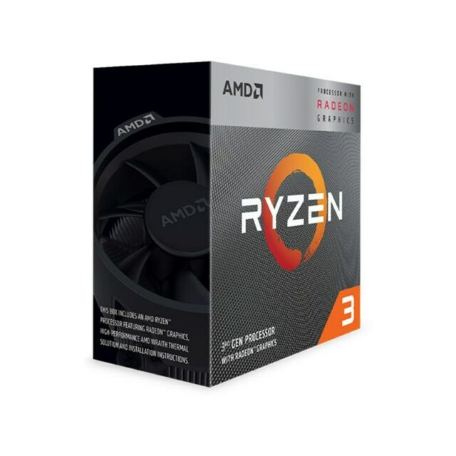 AMD Ryzen 3 3200G 4 Core Socket AM4 3.6GHz CPU Processor + Wraith Stealth Coo...