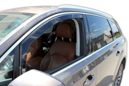 Audi Q7 II 5 door 2015-up Front wind deflectors 2pc set TINTED HEKO