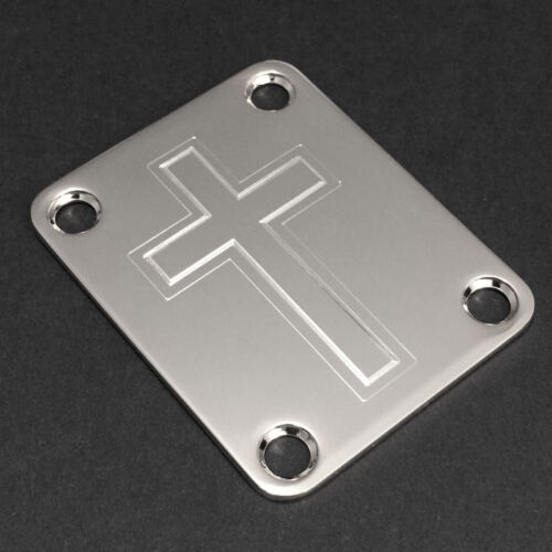 CROSS Faith Fits Fender Chrome GUITAR NECK PLATE Engraved Etched