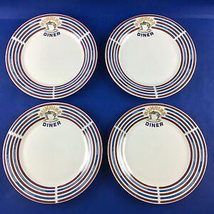 Image is loading Vtg-Oneidacraft-SUNRISE-DINER-Stoneware-Dinner-Plates-Set- & Vtg Oneidacraft SUNRISE DINER Stoneware Dinner Plates Set of 4 | eBay
