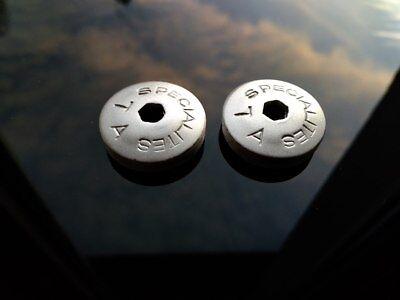 Specialities TA 23mm Polished DUST CAPS Set for vintage TA cranks Pro 5 Vis etc.