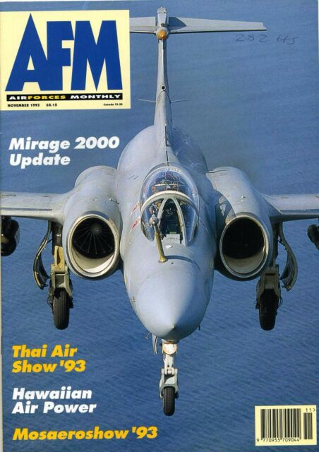 Air Forces Monthly 1993 November VC10,Buccaneer,Hawaii,Mirage,YS11,Poland