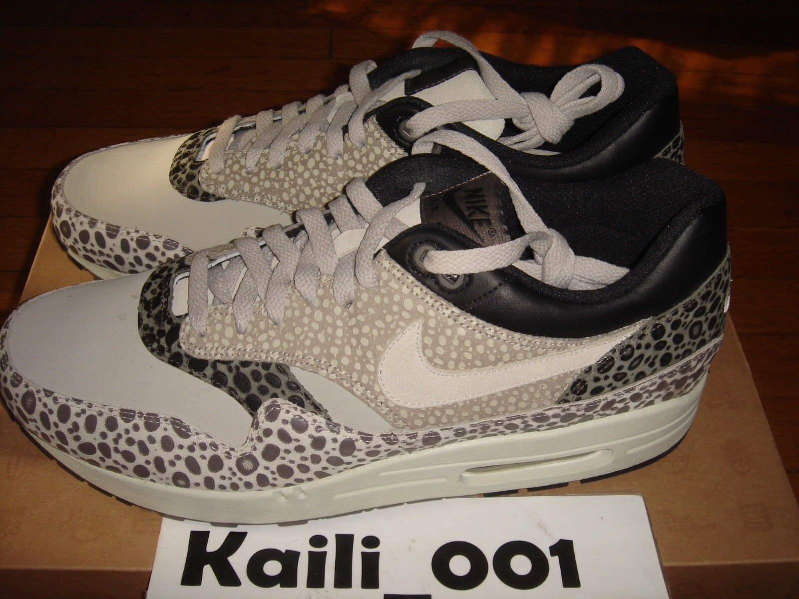 Nike Air Max 1 Premium SP Size 12 Safari 314252-002 Atmos Cement Powerwall B
