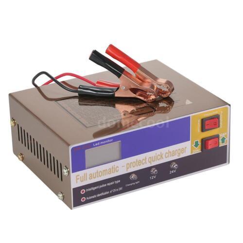 12V//24V Intelligent LED Charger Pulse F Lead Acid Battery /& Lithium Battery J3W8