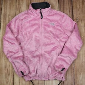 Womens-Vintage-The-North-Face-Pink-Fleece-Fluffy-Material-Size-L