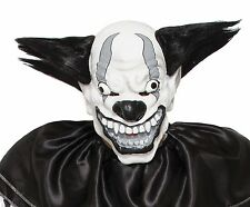 Psycho Clown Mask Skeleton Jaw Rainbow Hair ICP Evil Adult Creepy Cracked Skin