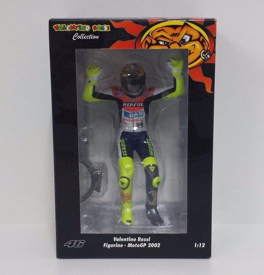 MINICHAMPS VALENTINO ROSSI 1 12 FIGURA HONDA MOTOGP 2002 WORLD CHAMPION RARE NEW