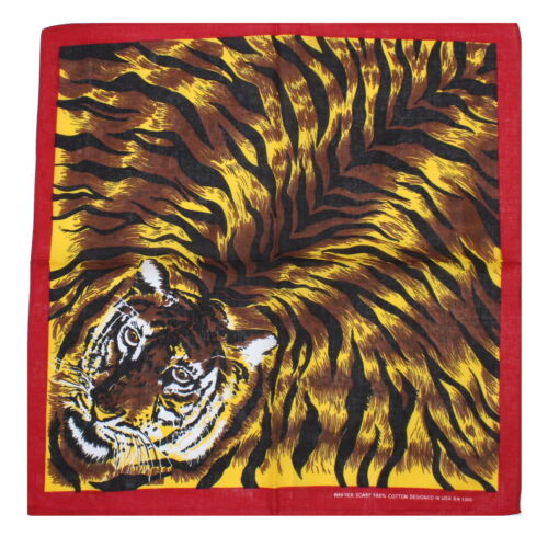 Zac/'s Alter ego ® Imprimé Tigre coton bandana avec bordure rouge