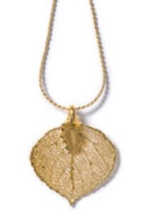 GENUINE-ROCKY-MOUNTAIN-ASPEN-LEAF-NECKLACE-GOLD-NEW