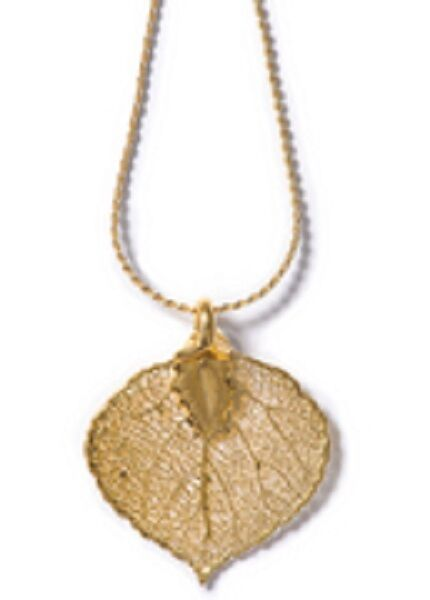 GENUINE ROCKY MOUNTAIN ASPEN LEAF NECKLACE ~ GOLD ~ NEW!!