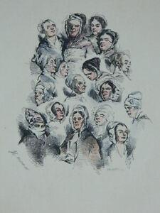 Grabado Realzado Colores Los Retenido Monnier Por Bennett 1841