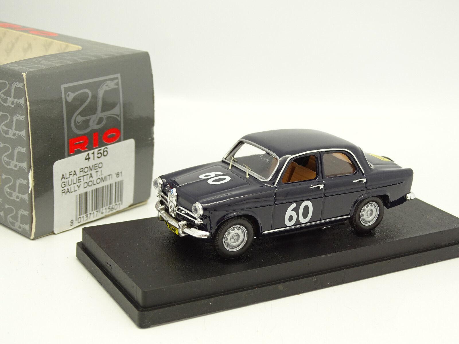 Rio 1 43 - Alfa Romeo Giulietta TI Rally of of of Dolomites 1961 328151
