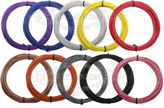 1-Pin Wire 30AWG 1.1MM Cable Stranded Cord Flexible Strip Hookup UL1007 20Meter