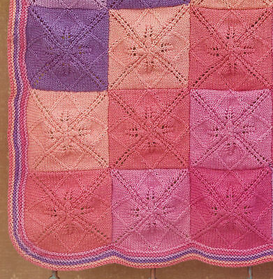 Baby Blanket Knitting Pattern Indivual Leaf Squares