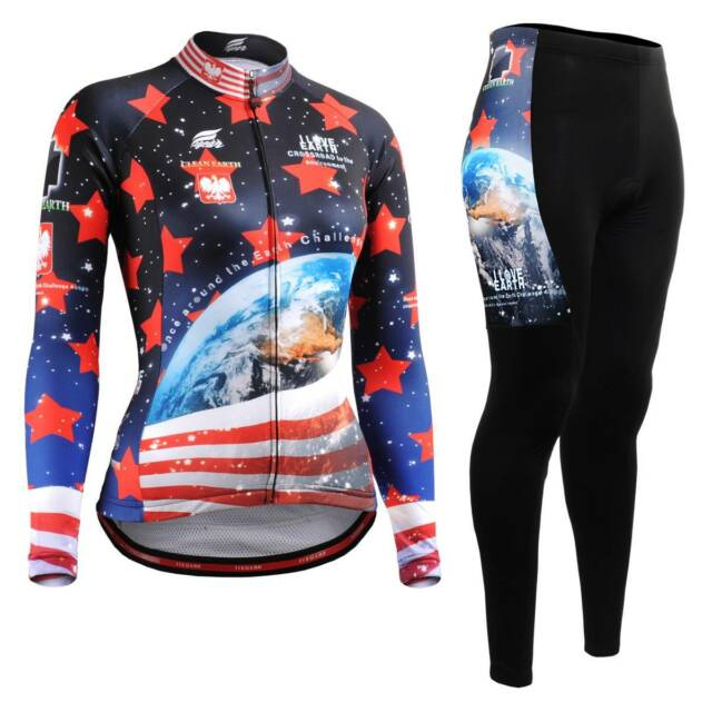 FIXGEAR CS-W1001-SET Women's Cycling Jersey & Padded Pants MTB Bike BMX Roadbike