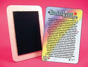"""Rainbow Bridge"" - Poem - Pet Loss Memorial Fridge Magnet - SKU#  977"